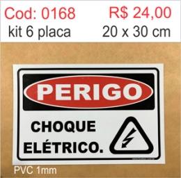 Saldão - Placa Perigo Choque Elétrico