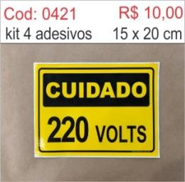 Saldão - Adesivo Cuidado 220 volts