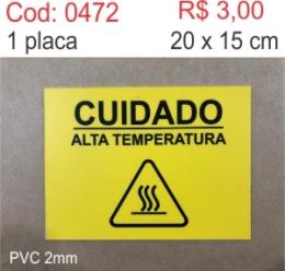 Saldão - Placa Cuidado alta temperatura