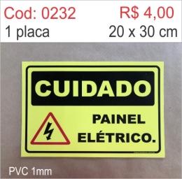 Saldão - Placa Cuidado Painel Elétrico