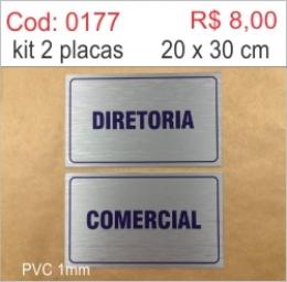 Saldão - Placa Diretoria e Comercial