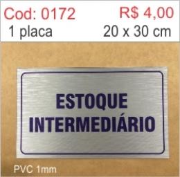 Saldão - Placa Estoque Intermediário