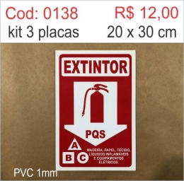 Saldão - Placa Extintor PQS