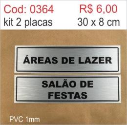 Saldão - Placa Identificação Áreas de Lazer e Salão de Festa