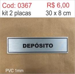 Saldão - Placa Identificação Depósito
