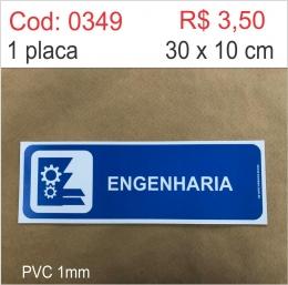 Saldão - Placa Identificação Engenharia