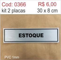 Saldão - Placa Identificação Estoque