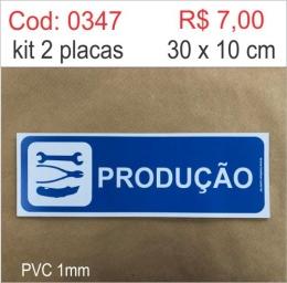 Saldão - Placa Identificação Produção