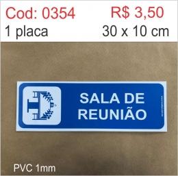 Saldão - Placa Identificação Sala de Reunião