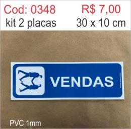 Saldão - Placa Identificação Vendas