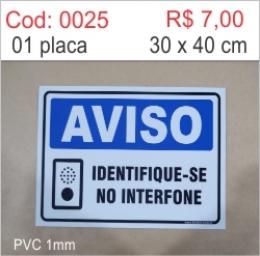 Saldão - Placa Identifique-se no Interfone