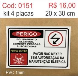 Saldão - Placa Perigo Equipamento Elétrico Somente Pessoas Autorizadas