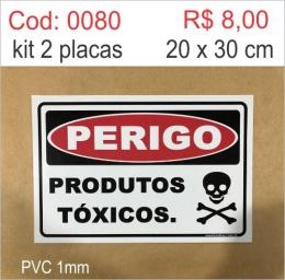 Saldão - Placa Perigo Produtos Tóxicos