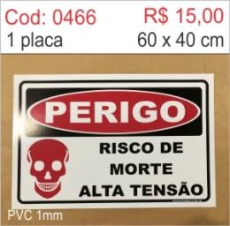 Saldão - Placa Perigo - Risco de morte alta tensão