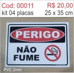 Saldão - Placa Perigo Não Fume