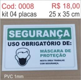 Saldão - Placa Segurança Uso Obrigatório de: Máscara de Proteção