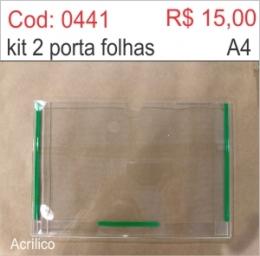 Saldão - Porta Folha 2 dobras em Acrílico (Horizontal)