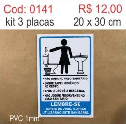 Saldão - Placa Procedimentos Sanitários