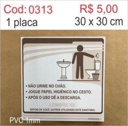 Saldão - Placa Procedimentos Sanitários Masculino