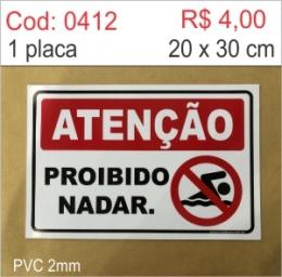 Saldão - Placa Proibido Nadar