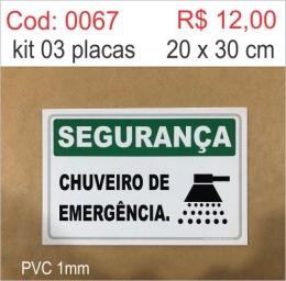 Saldão - Placa Segurança Chuveiro de Emergência
