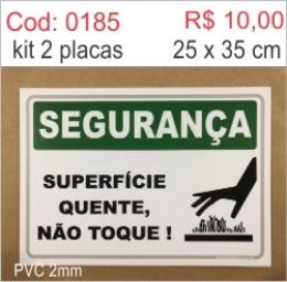 Saldão - Placa Segurança Superfície Quente, Não Toque!