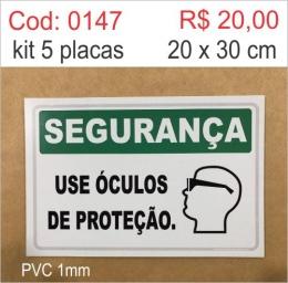 Saldão - Placa Segurança - Use Óculos de Proteção