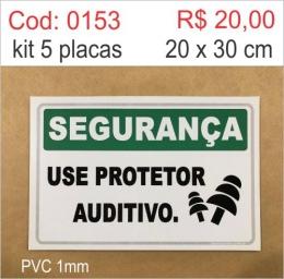 Saldão - Placa Segurança - Use Protetor Auditivo