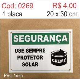 Saldão - Placa Segurança - Use Sempre Protetor Solar