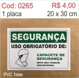 Saldão - Placa Segurança - Uso Obrigatório de Capacete de Segurança
