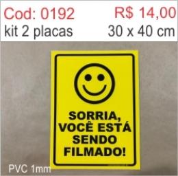 Saldão - Placa Sorria Você Está Sendo Filmado
