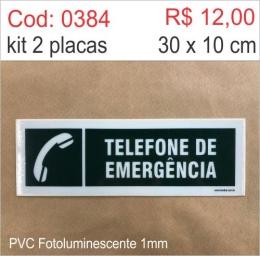 Saldão - Placa Telefone de Emergência