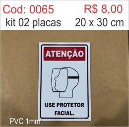 Saldão - Placa Atenção Use Protetor Facial