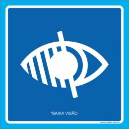 Placa símbolo baixa visão