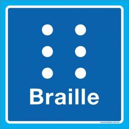 Placa símbolo braille