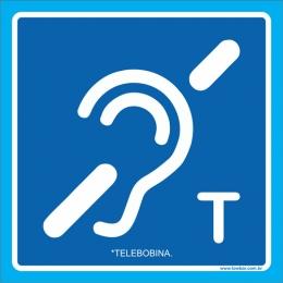 Placa símbolo telebobina