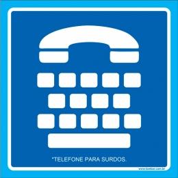 Placa telefone para surdos
