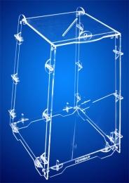 Urna Tipo Pirâmide - acrílico cristal 3mm