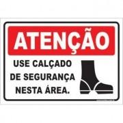 Use Calçado de Segurança Nesta Área