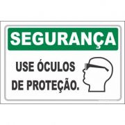 Use óculos de proteção