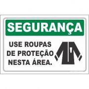 Use roupas de proteção