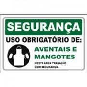 Uso Obrigatório de aventais e mangotes