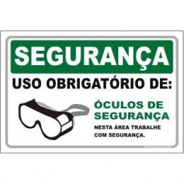 Uso Obrigatório de Óculos de Segurança