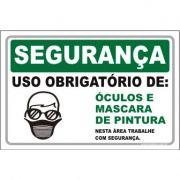 Uso Obrigatório de óculos e máscara