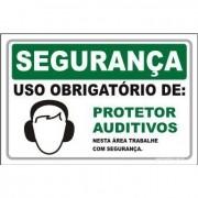 Uso Obrigatório de protetor auditivo