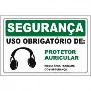 Uso Obrigatório de protetor auricular