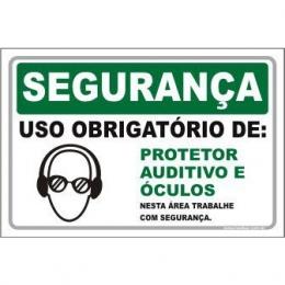 Uso Obrigatório de Protetor Auditivo e Óculos