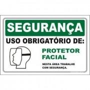 Uso Obrigatório de protetor facial