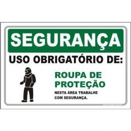 Uso Obrigatório de Roupa de Proteção