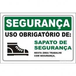 Uso Obrigatório de Sapato de Segurança